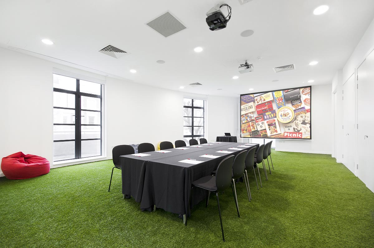 boardroom setup, conference space, museum of brands