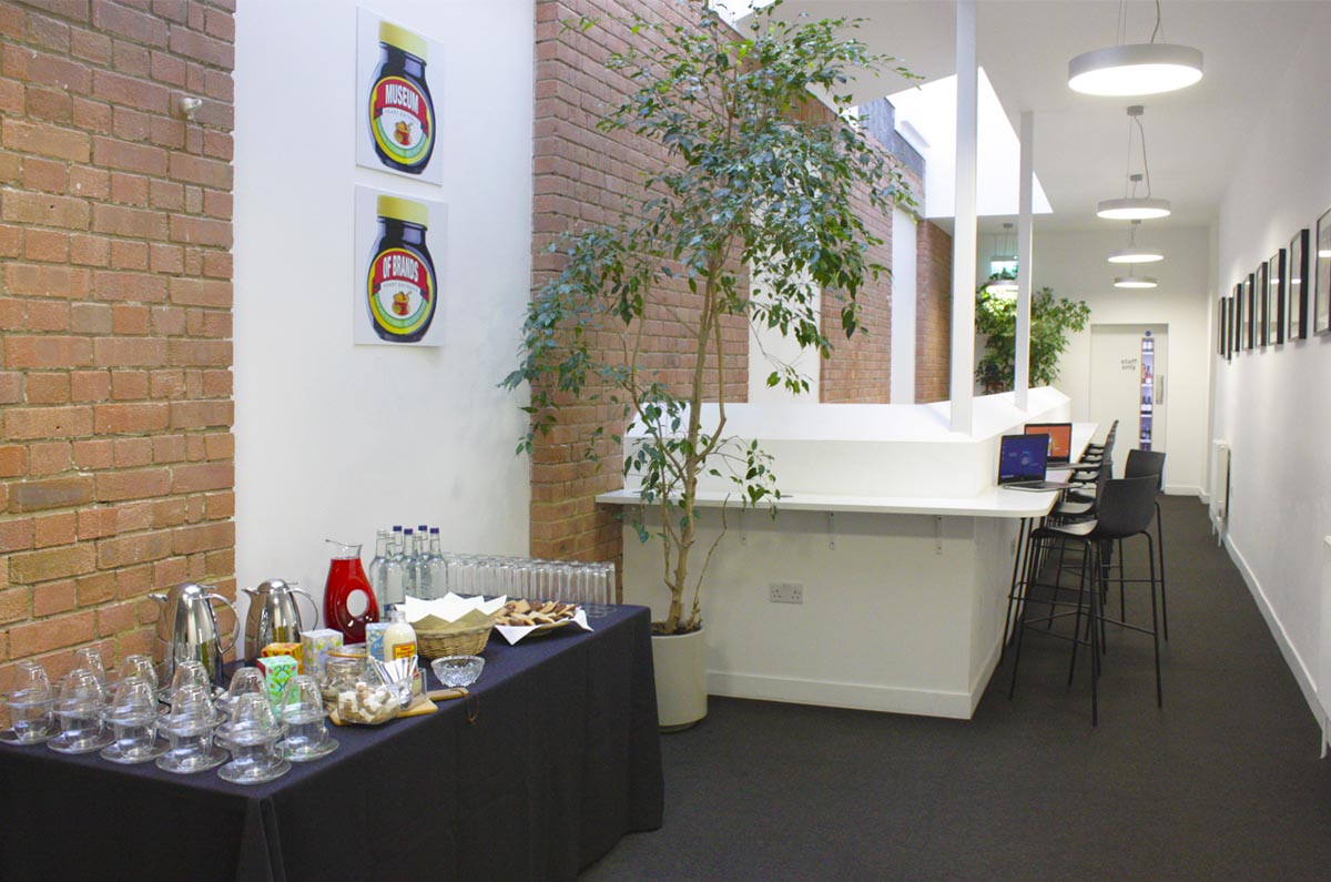 break area, conference space, museum of brands