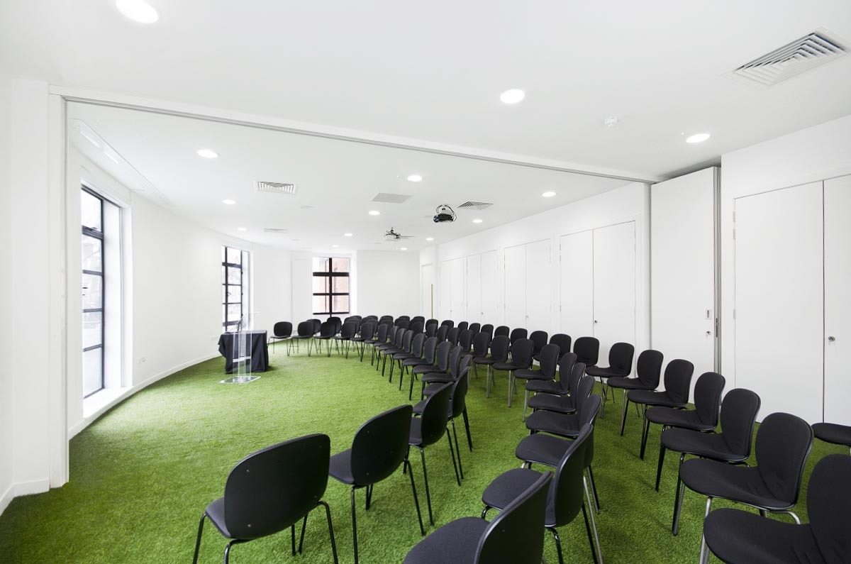 theatre setup, conference space, museum of brands