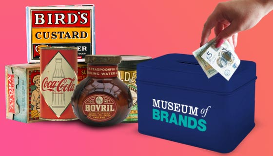 help us to continue, donate to the museum of brands